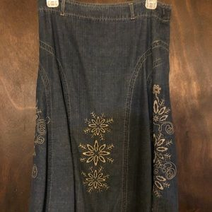 Faded Glory Denim Skirt